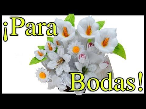 Moldes de Flores para hacer Arreglos Florales en Fomi, Goma EVA HD
