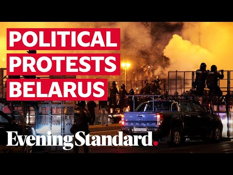 Police, protesters clash after Belarus presidential vote