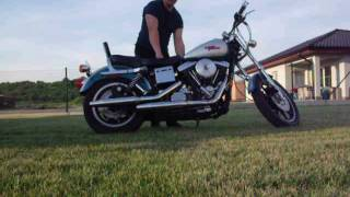 1. Harley Davidson FXDS 1994 Evolution engin, original exhast