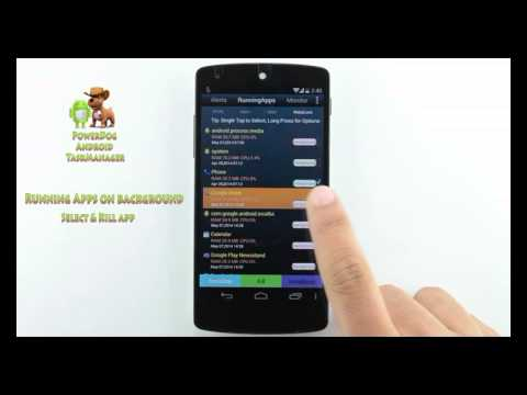 Video of PowerDog Android TaskManager