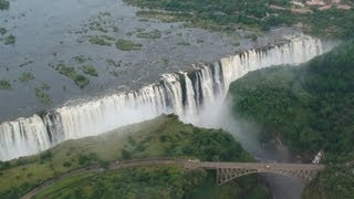 Victoria Falls Zimbabwe  city pictures gallery : Victoria Falls (Helicopter Aerial View) - Zambia / Zimbabwe Africa