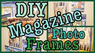 DIY: Magazine Photo Frames! Roomspiration! - YouTube