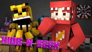 Minecraft FNAF HIDE N SEEK w/ GOLDEN FREDDY! #7 (Five Nights at Freddy's Minigame)