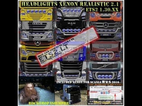 Headlights Xenon Realistic and Visors Rockeropasiempre v2.2