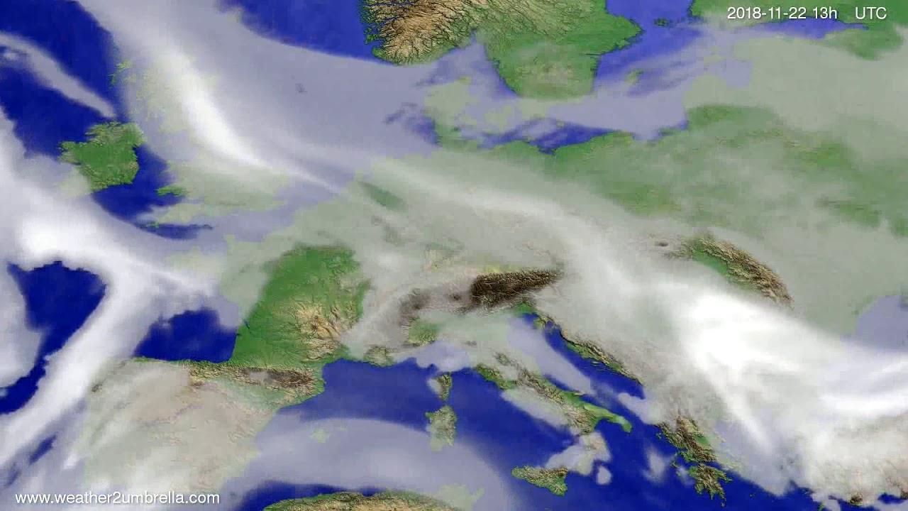 Cloud forecast Europe 2018-11-19