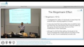 MOOC Social Psychology Lecture 7 People in Groups