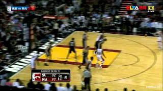 Mike Miller come back.6 three's (6/6) Miami Heat vs San Antonio Spurs 120 - 98 01.17.2012