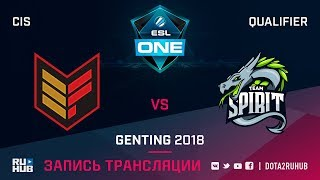 Effect vs Spirit, ESL One Genting CIS Qualifier, game 1 [CrystalMay]