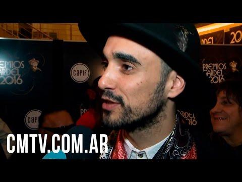 Abel Pintos video Entrevista CM 2016 - Premios Gardel 2016