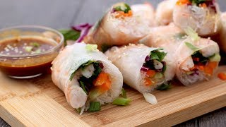 Shrimp Summer Rolls with Peanut Dipping Sauce by Laura in the Kitchen