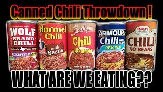 Video Canned Chili Throwdown! ­ Who Has The Best Chili? - WHAT ARE WE EATING?? - The Wolfe Pit MP3, 3GP, MP4, WEBM, AVI, FLV Juli 2018