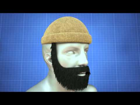 Kevin Brown   Beard Motif Hat and Face Warmer