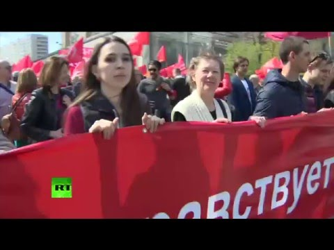Communist May Day demonstration in Moscow