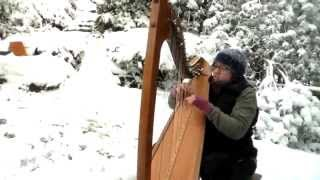 Frosty the Snowman on an Eos Harp