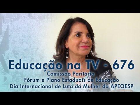 Comissão Paritária - Fórum e Plano Estadual de Educação - Dia Internacional de Luta da Mulher APEC - 08/03/2015