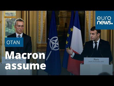 """Emmanuel Macron assume ses propos controversés sur l'état de """"mort cérébrale"""" de l'Otan"""