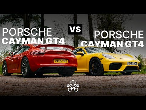 Porsche 981 Cayman GT4 vs. Porsche 718 Cayman GT4 | PistonHeads