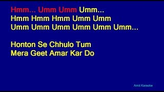 Video Honton Se Chhulo Tum - Jagjit Singh Hindi Full Karaoke with Lyrics MP3, 3GP, MP4, WEBM, AVI, FLV Juni 2018