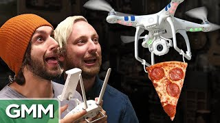 """Mike & Alex from Ten Feet Tall try and land a drone to pick crazy pizza toppings. GMM #1159!Check out Ten Feet Tall on This Is Mythical: http://bit.ly/TopiaryArtComment Takeover! Leave a comment about these star-crossed lovers! https://youtu.be/tsOGJXu138I  SUBSCRIBE to GMM: http://bit.ly/subrl2  Watch today's GMMore episode: http://bit.ly/CrewQA  Don't miss This Is Mythical: http://bit.ly/BurritoTrampolineFor rules and more info on how to submit a #10SecondTour go to http://www.rhettandlink.com/10secondtourFollow Rhett & Link:Facebook: http://facebook.com/rhettandlinkTwitter: http://twitter.com/rhettandlinkTumblr: http://rhettandlink.tumblr.comInstagram: http://instagram.com/rhettandlinkOther Rhett & Link Channels:Main Channel: https://youtube.com/rhettandlinkGood Mythical MORE: https://youtube.com/user/rhettandlink3Rhett & Link EXTRAS: https://youtube.com/user/rhettandlink4GMM Merch: http://bit.ly/RhettLinkStoreWatch More GMM:Choose a Season:  http://bit.ly/2axhxZNPopular Videos: http://bit.ly/2afIJ12Latest Uploads: http://bit.ly/2aZMw3KWill It?: http://bit.ly/2a64BiVTaste Tests: http://bit.ly/2a4v5hZListen to our FREE podcast, Ear Biscuits:Apply Podcasts: http://apple.co/29PTWTMSpotify: http://spoti.fi/2oIaAwpArt19: https://art19.com/shows/ear-biscuitsJOIN the RhettandLinKommunity: http://bit.ly/rlkommunityMail us stuff to our P.O. Box: http://rhettandlink.com/contactSubmit a Wheel of Mythicality intro video: http://bit.ly/GMMWheelIntroWe are two Internetainers dedicated to giving you a daily dose of casual comedy every Monday-Friday on our show """"Good Mythical Morning."""" Thanks for making us a part of your daily routine. Be your mythical best! - Rhett & LinkCredits:Executive Producer: Stevie Wynne LevineWriter/Producer: Edward Coleman Writer/Producer: Lizzie BassettWriter/Producer: Kevin KostelnikWriter/Producer: Micah GordonWriter/Producer: Ellie McElvainAssociate Producer: Chase HiltTechnical Director/Graphics/Editor: Morgan LockeEditor: Casey NimmerAdditional G"""