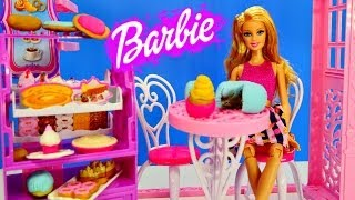Barbie Life In The Dreamhouse Malibu Ave. Bakery Frozen Elsa and Anna Play Doh Cake and Food Shopping. Barbies Baking Play-Doh Cakes, Playdoh Cupcakes and Pl...