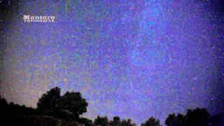 Timelapse stars rain (perseidas) with Canon 5D Mark II full HD.
