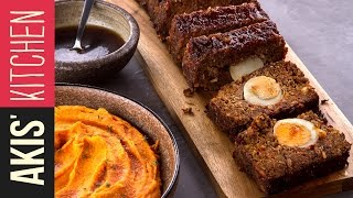 Glazed Meatloaf with mashed sweet potatoes  | Akis Kitchen by Akis Kitchen
