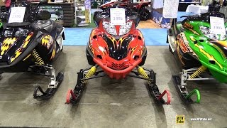 6. 2004 Arctic Cat F6 EFI Snowmobile - Walkaround - 2014 Toronto ATV Show