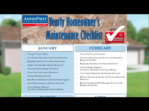 Yearly Home Maintenance Checklist l AmeriFirst Home Mortgage