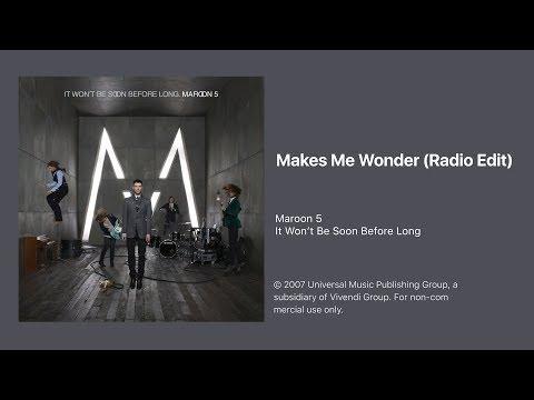Maroon 5 - Makes Me Wonder (Radio Edit) (Official Audio)