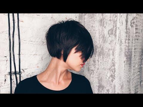 Short haircuts - how to cut beautiful short bob haircut with layers