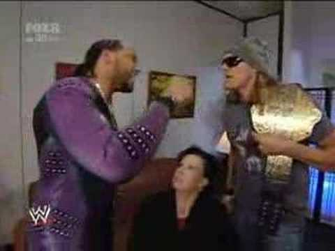 SmackDown 3/16/08 Part6: MVP & Vickie Guerrero Backstage