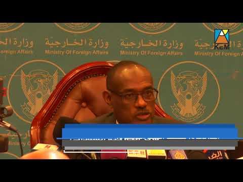 المؤتمر الصحفي لوزير الخارجية السودانى الدرديرى محمد أحمد