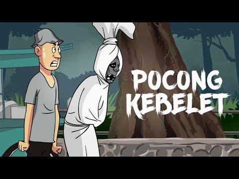 Download Video Kartun Lucu Horor - Pocong Kebelet