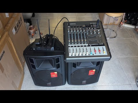 PAKET SOUND SYSTEM AUDERPRO POWER MIXER + SPEAKER 12INC