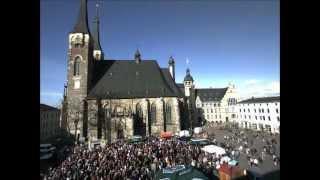 Rosenmontag 2012 - der Markt in Köthen