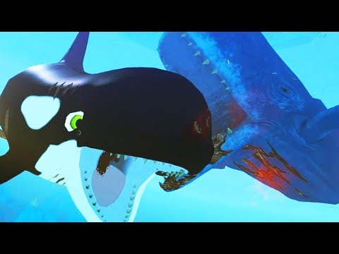 NEW KILLER WHALE vs NEW GIANT WHALE! - Feed and Grow Fish - Part 75 | Pungence