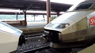 Download Video Coupling and departing of 2 TGV trains! MP3 3GP MP4