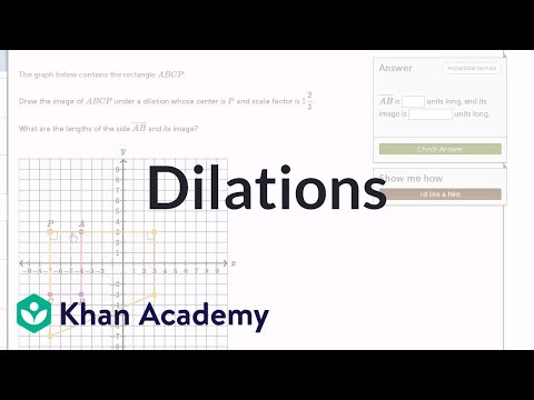 Dilating Shapes Expanding Video Khan Academy