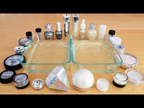 Diamonds Vs Pearls - Mixing Makeup Eyeshadow Into Slime! Special Series 88 Satisfying Slime Video