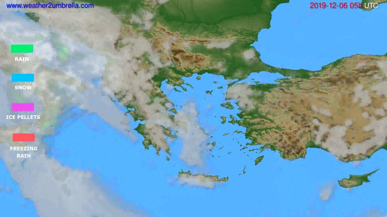 Precipitation forecast Greece // modelrun: 00h UTC 2019-12-05