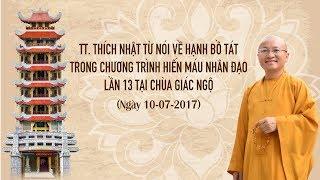 Hiến máu nhân đạo tại chùa Giác Ngộ - 07-10-2017
