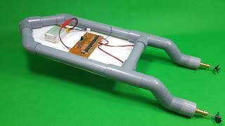 Video How To Make RC Boat Twin 180 Motor Using PVC Pipe MP3, 3GP, MP4, WEBM, AVI, FLV November 2018