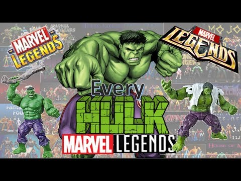 Every Marvel Legends Incredible Hulk Toybiz and Hasbro including SDCC 2019 and Classics and BAF