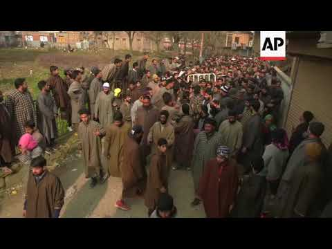 Funeral of Kashmir rebels killed in firefight with Indian troops