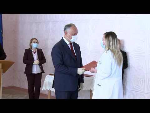 "Preşedintele ţării a vizitat Spitalul ""Valentin Ignatenco"""