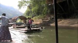 Pak Khwae Thailand  city images : Bamboo Rafting & A Mon Village on The River Kwai, Thailand