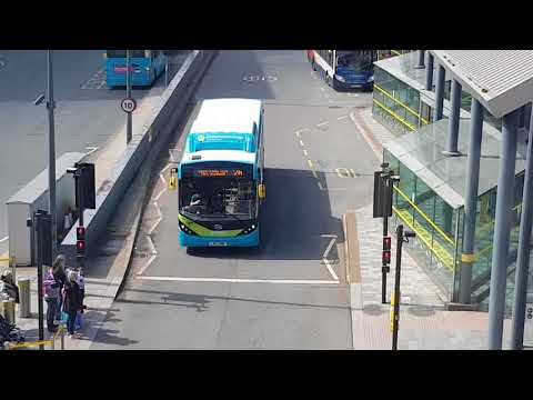 2 BYD Enviro 200EV Buses In Liverpool One Bus Station
