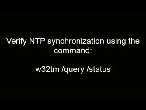 Configuring NTP on Windows 2012 Server (видео)