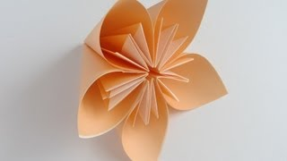 Origami Kusudama Flower - YouTube