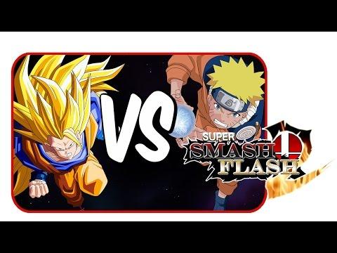 Goku Vs Naruto! | Super Smash Flash 2